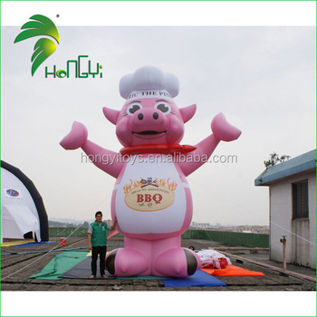 20ft Giant Inflatable Pink Pig For Advertising