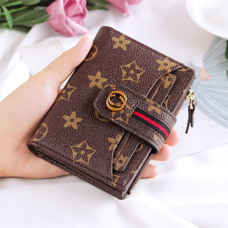 2019 NEW Fashion Simple Ladies <strong>Wallet</strong> Short Multi-Card PU <strong>Wallet</strong> For Women Card Bag Clutch Bags Convenient Carrying Pocket Purse