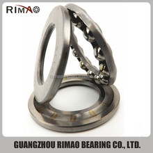 51244 large size thrust ball bearing low noise metal ball bearing thrust ball bearing types chart
