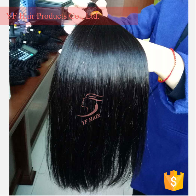 Silky Straight Remy Human Hair Machine Made Skin Wefts Peruvian /Brazilian/Indian hair