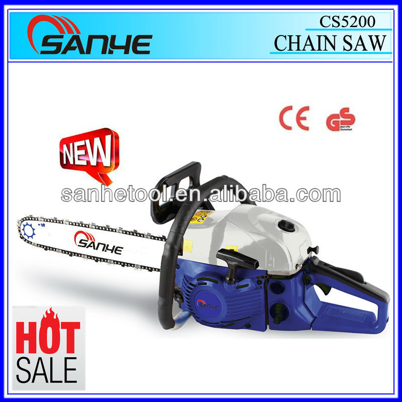 HOT sale 52cc new gasoline chainsaw /CS5200 / garden tool with CE GS certification