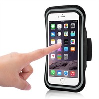 Slim waterproof sport fit armband for iphone 6/5s/5 for samsung with touch screen works through the clear cover