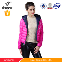 reversible Fashion two in one winter jacket customized jackets down jacket woman clothings