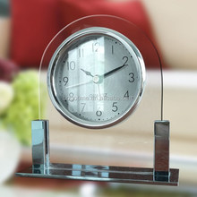 Modern decorative melody table glass alarm clock