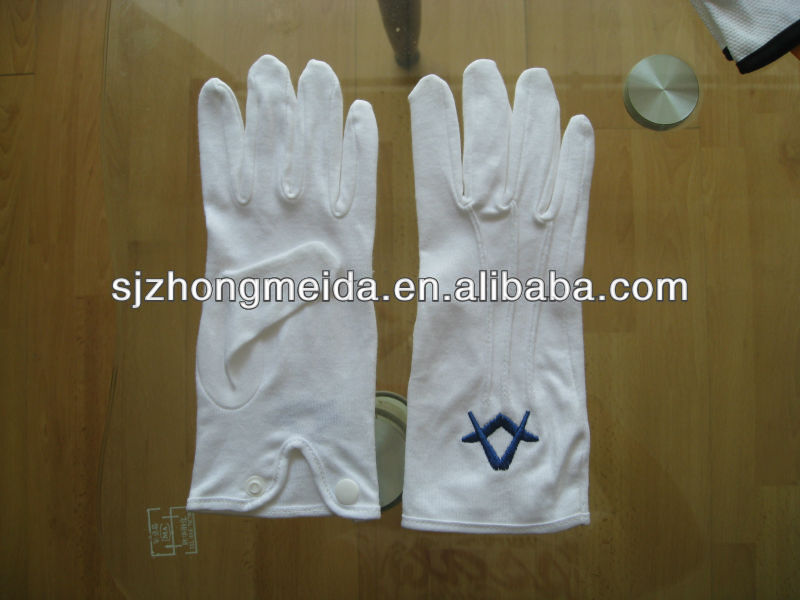 parade gloves cotton nylon poly glove hotel staff banquet and catering employees and waiters cotton gloves