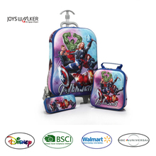 New product EVA 3D design Avengers kids 3-pc set traveling/school bag/case/trolley case pencilcase backpack