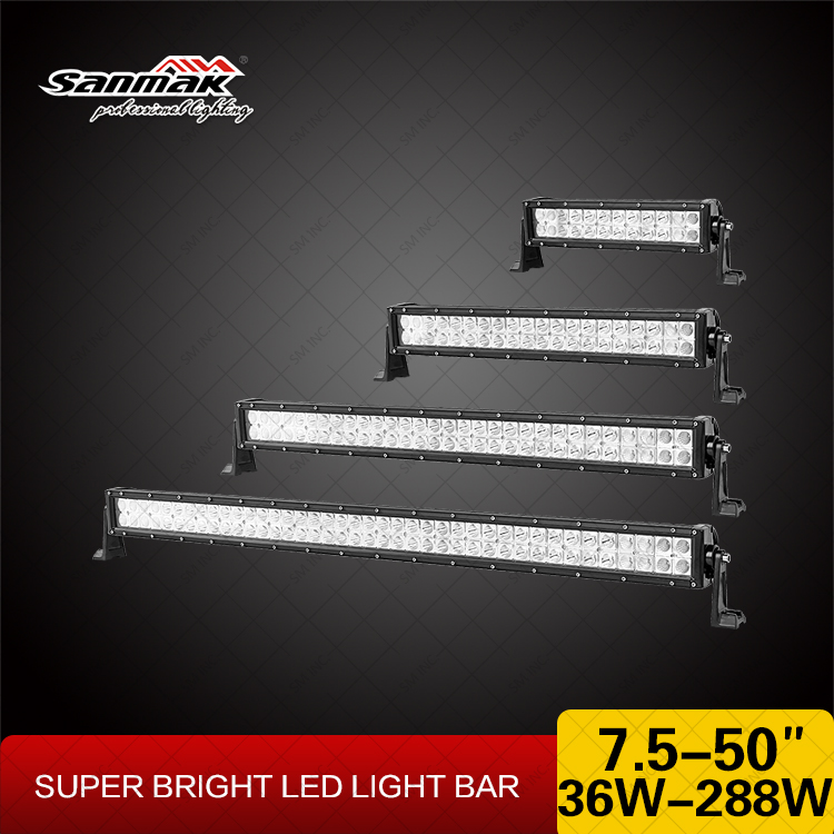 High power 7.5- 50 inch led light bar mount bracket 3W Epistar led work light bar