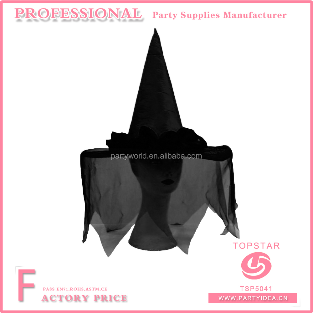 wholesale min imystery black veil witch hat