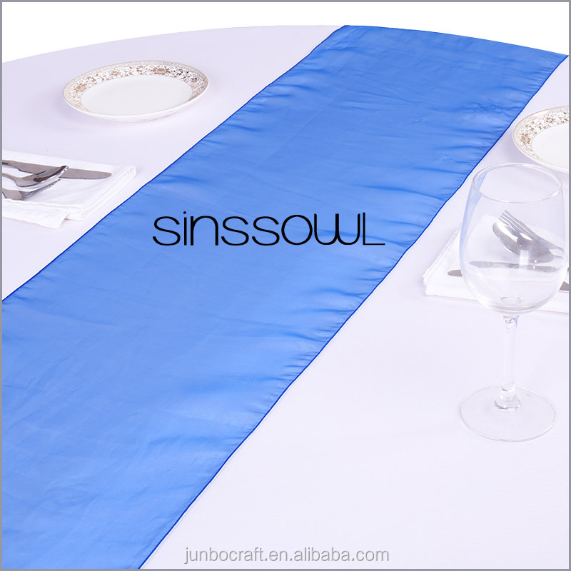 2016 NEW Fashionable Organza Table Runners Crystal Soft Organza Cloth Table Runner for Wedding Banquet in Event & Party Supplies