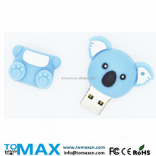 Original TOMAX Blue Koala shape USB flash drive 3D PVC Cartoon pen drive