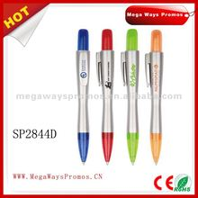 Plastic ball pen with big click button