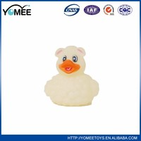 Best selling durable using rubber pink duck with printing