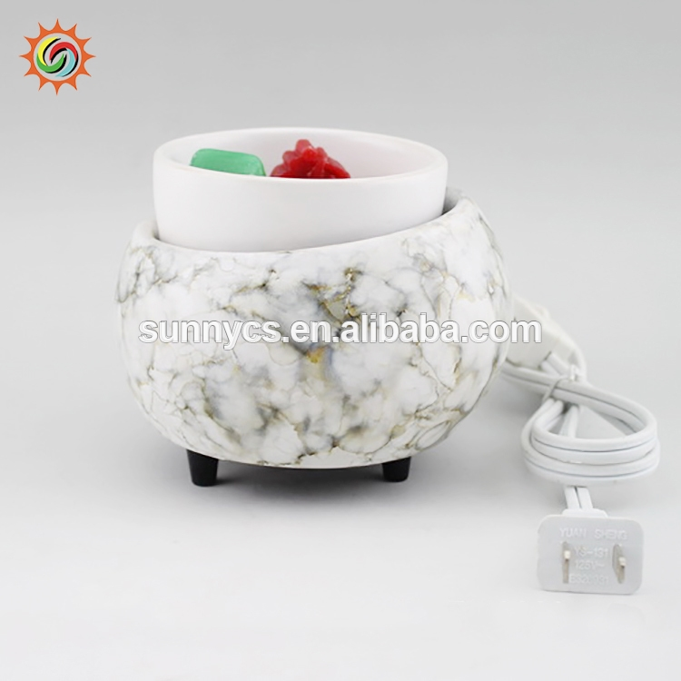 OEM supplied electrical candle wax tart warmers ceramic incense burner