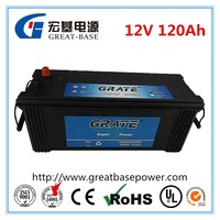 sealed maintenance free 12V 120ah heavy duty truck battery DIN120/ 62033-mf