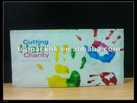 Cutting hair for charity/hair packaging plastic/packing bag with zipper