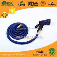 Expanding Green Blue Flexible Light Garden Water Hose + Nozzle 25 50 75 100 Pocket Style Coil Hose space saver hose