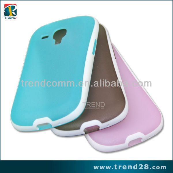 alibaba express two tone color tpu case for Samsung galaxy S3 mini i8190