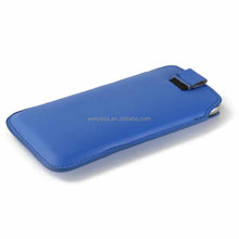 Multicolor high quality leather pull tab case for iphone4/4s in shenzhen