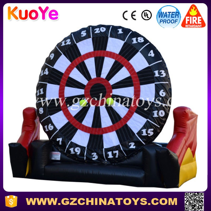 2017 Inflatable Giant Soccer Dart Board For Festivals Fun Events