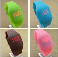 led silicone rubbe band digital watch new fashion color storm watch