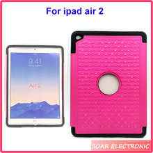 For Ipad Air 2 tablet case,diamond pattern Shockproof tablet case for ipad air 2
