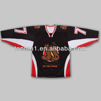 China OEM custom sublimation international vintage goalie ice hockey uniforms/jerseys
