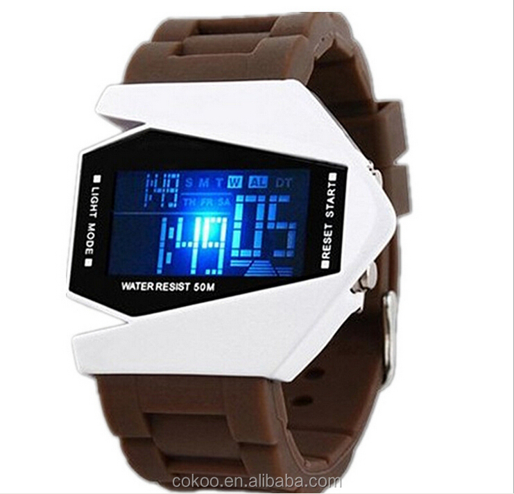 Creative design Top brand LED Airplane watch sports water proof watch,watch manufacturer&supplier&exporter