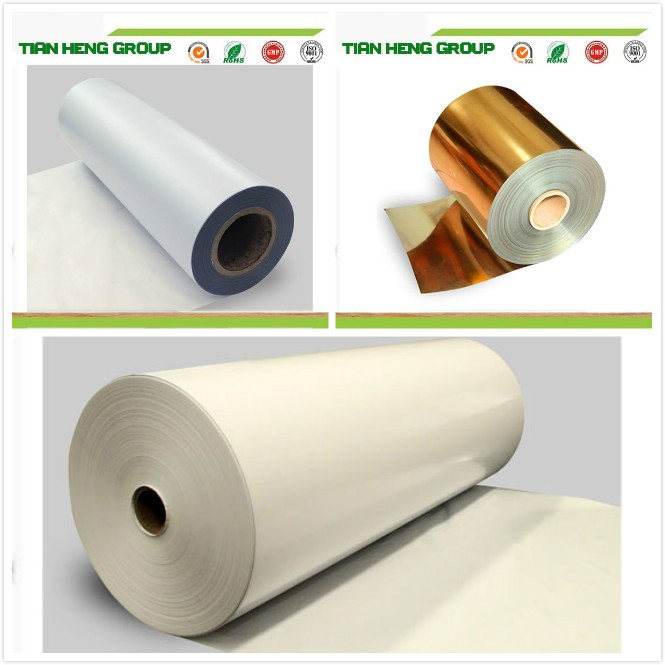 Transparent rigid pvc film for metallizing