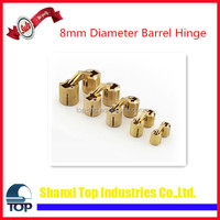8mm Diameter Barrel Hinge, Solid Brass hinges 6 pack