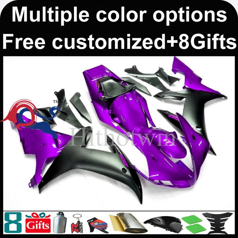 purple black motorcycle cowl for Yamaha YZF-<strong>R1</strong> 2002-2003 <strong>02</strong> <strong>03</strong> YZFR1 2002 2003 <strong>02</strong>-<strong>03</strong> ABS Plastic Fairing