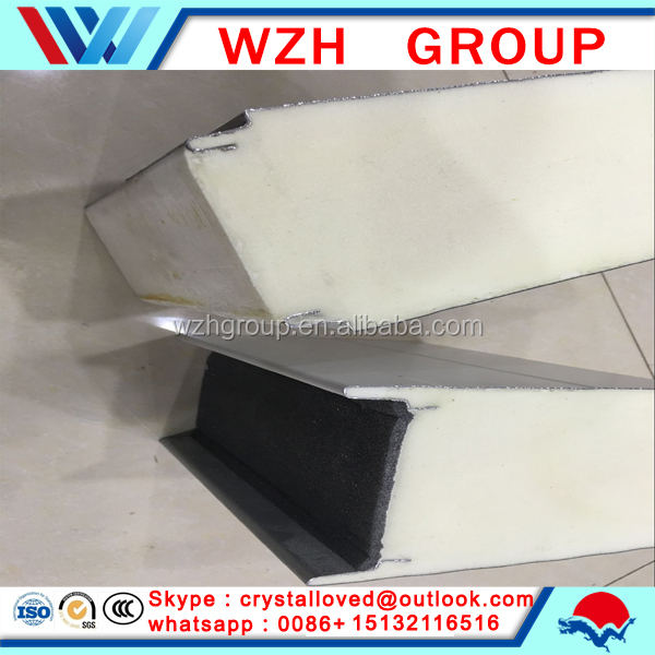 Superior Insulated Heat sandwich panel for cold room of 25mm steel PU sandwich panel from china supplier