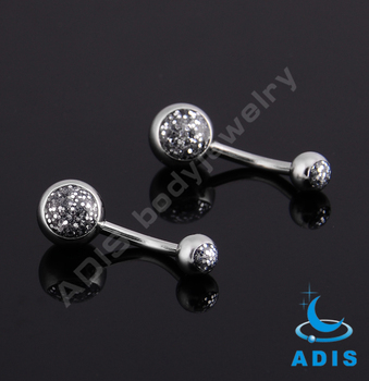 Wholesale high polished epoxy belly button ring body piercing jewelry