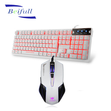 Best High Raised pink computer keyboard and mouse with backlit for typing