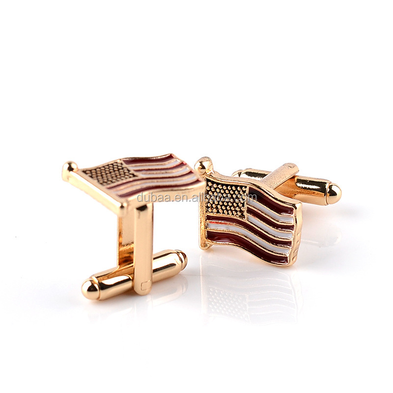 National Flag Cufflinks for Men Business Wedding Shirt Accessories Men Stud Cuff Links