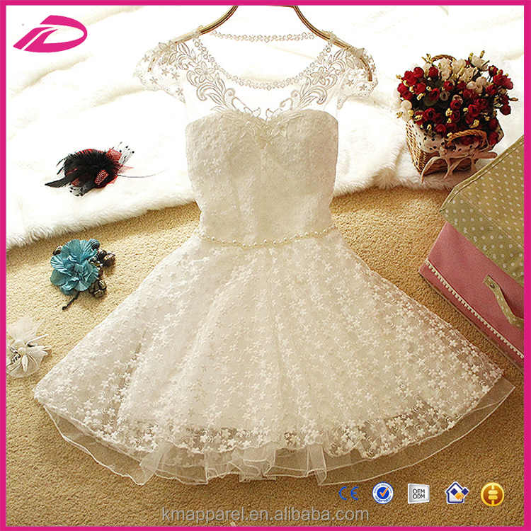 Mini white lace dress