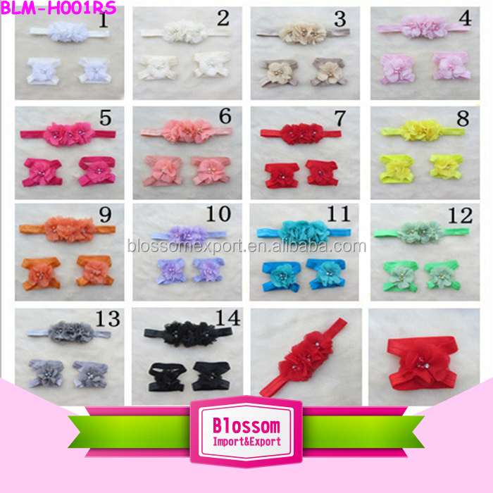Feather knit headband cotton elastic fabric baby headband boutique messy bow hair headband
