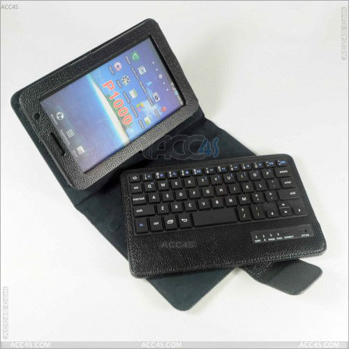 Detachable high quality leather case with ABS bluetooth keyboard for SAMSUNG Galaxy Tab2 7.0 / P3100 p6200
