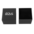 2018 New design Simple black paper watch box with pillow
