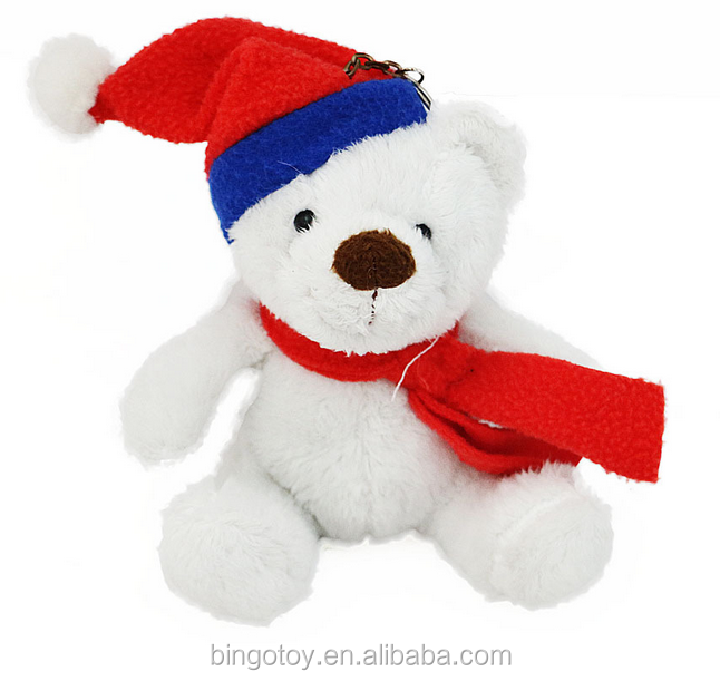 Custom plush stuffed soft toy teddy bear for promotional gifts Christmas bear keychain