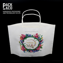 China supplier logo printing green custom personalised paper bags with twisted handle