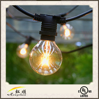 110V /220V outdoor PVC festoon string light for Christmas decoration waterproof