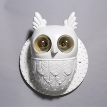 Creative Owl Wall Lamp with Nordic Style Gypsum material for Bedroom Living Room Home Corridor Balcony E27 Bulb Lighting