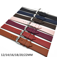 wholesale 12/14/16/18/20/22mm Watch Band Strap Cow Leather Replacement Watchband For Men Women
