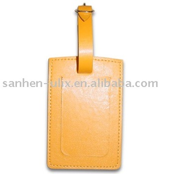 PVC Material Luggage Tag with Adjustable Strap