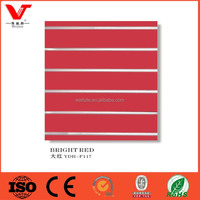 Factory used Red slatwall panels with aluminum/ Slotted MDF with high quality