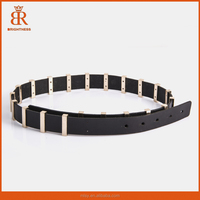 Ladies fashion fancy belt high elegant leather belts fashion beaded belt