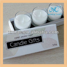 Paraffin wax & soy wax clear glass jar branded custom chocolate scented candles factory Price