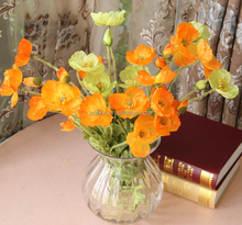 High Quality artificial plastic wedding flower poppy