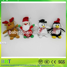 Christmas plush pingu with hat soft toy wholesale