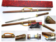 Chinese Longquan Sword Ebony Ancient King Yue Folded Steel Sword AC0931